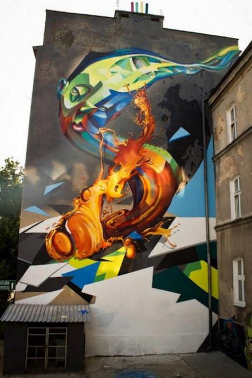 Lubelski Street Art: II. Mural na ul. Lipowej