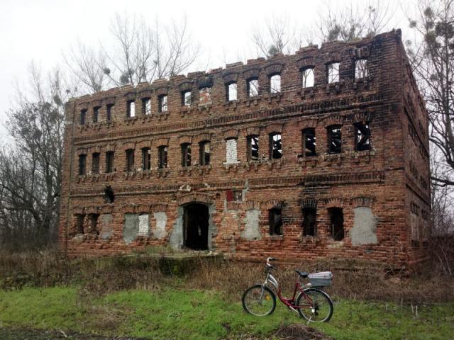 Stary młyn/spichlerz we wsi Moszna