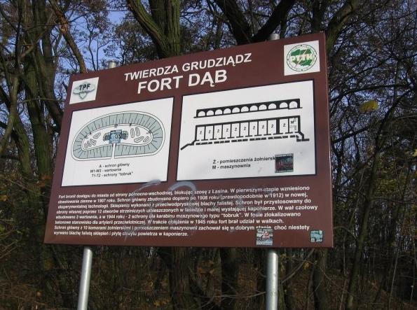 Twierdza Grudziądz - Fort Dąb