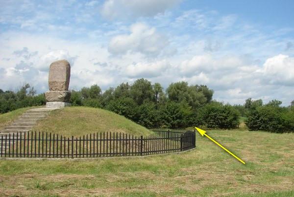 Obelisk upamiętniający dekorację ułanów