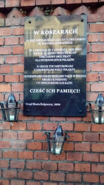 Tymczasowy obóz pracy dla  Polaków - miejsce pamięci
