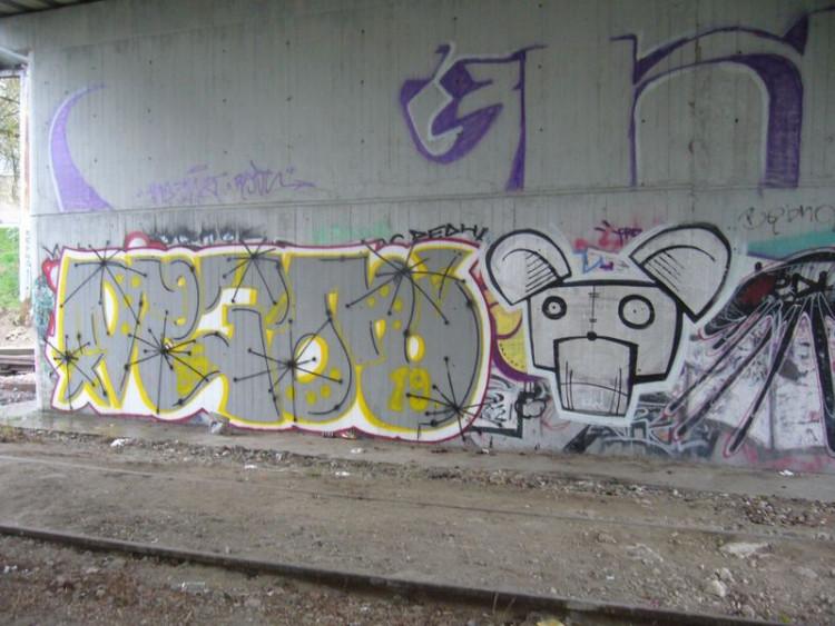 ZAMOŚĆ - mural- pod wiaduktem